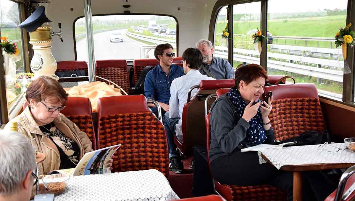 Innenansicht des Busses