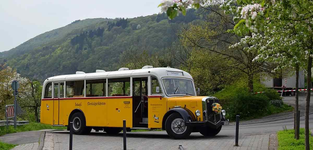 Mit dem Postbus-Oldie durch die Kurpfalz