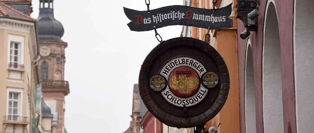 Wirtshausschild Heidelberger Schlossquell