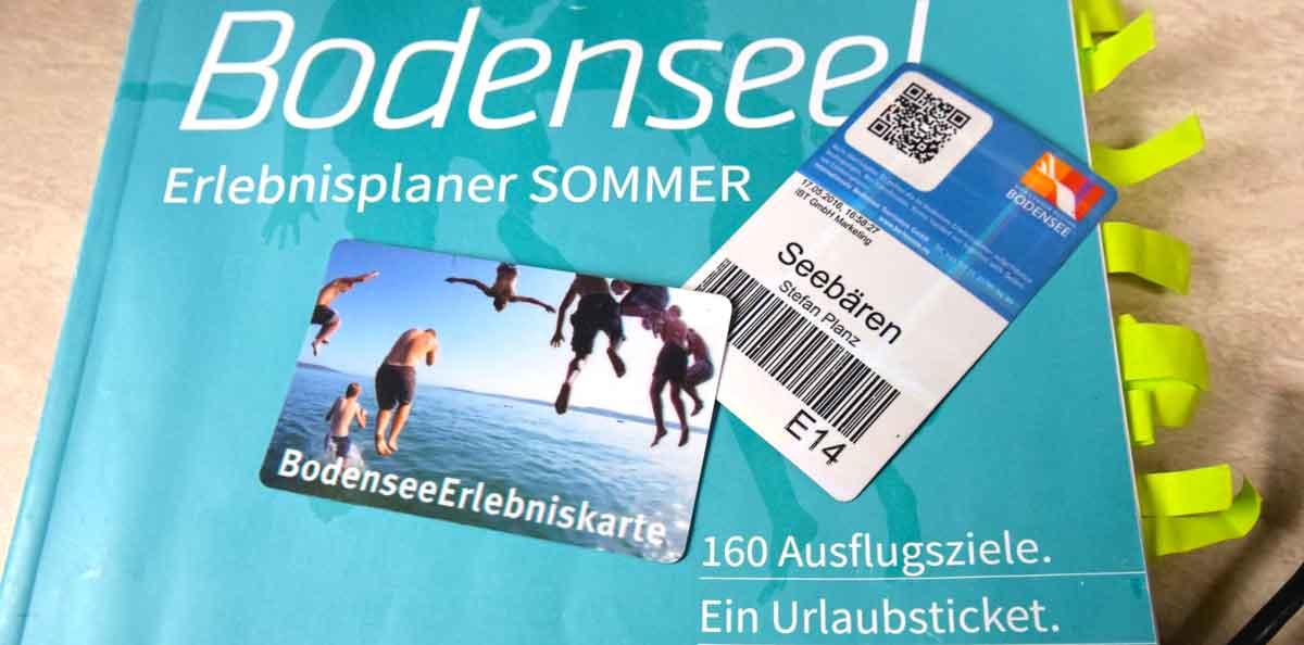 BodenseeErlebniskarte und Sommerplaner
