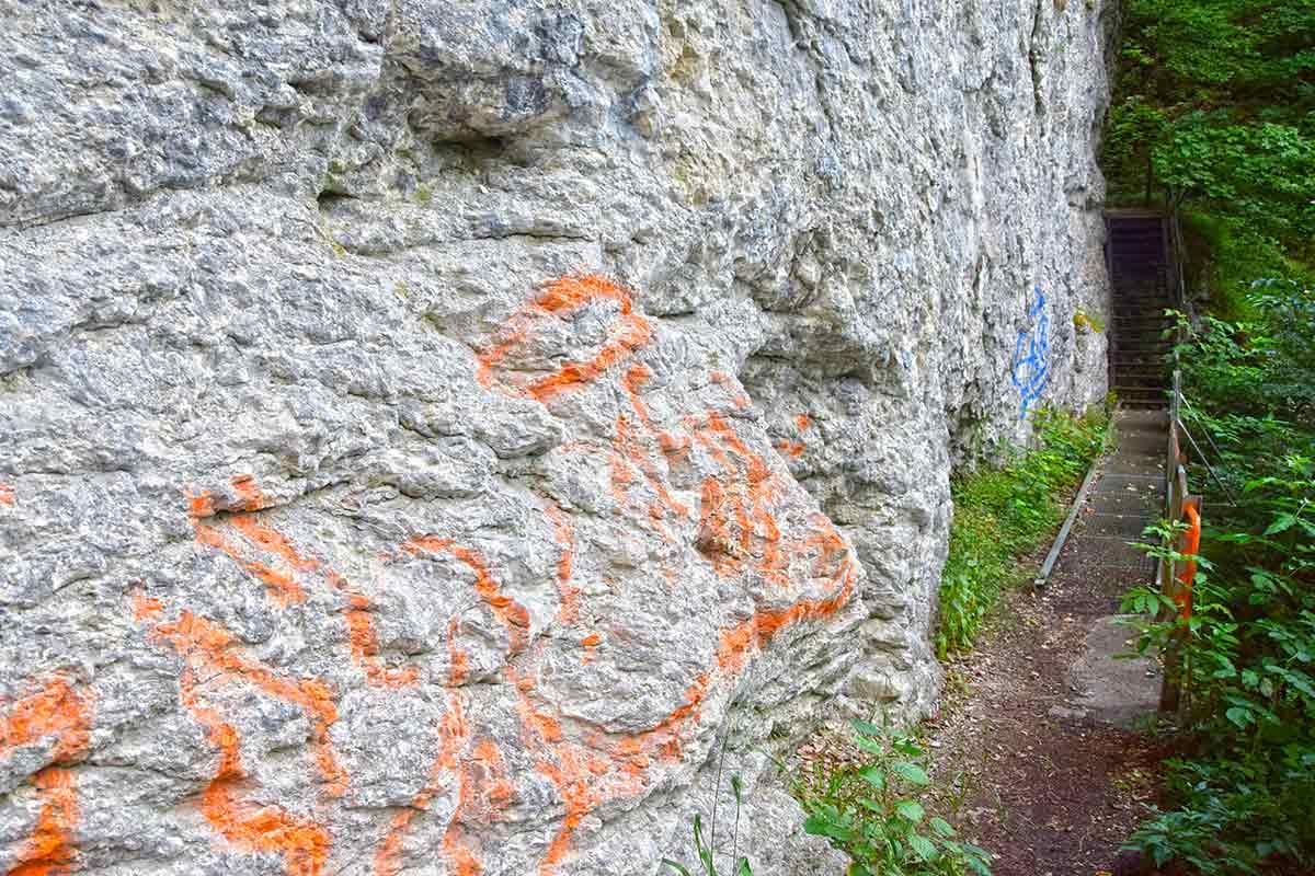 Graffiti auf Felsen