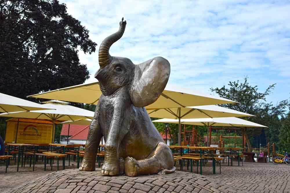 Fany vom Gitz auf dem Elefantenplatz