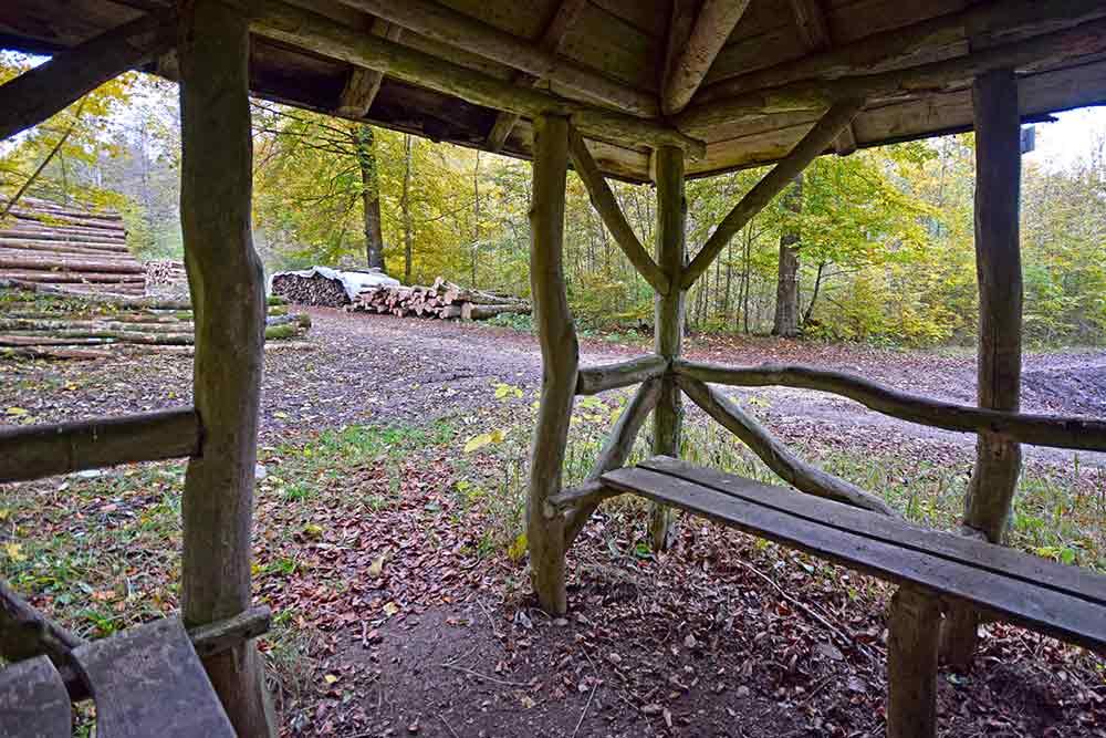 Blick aus Schutzhütte