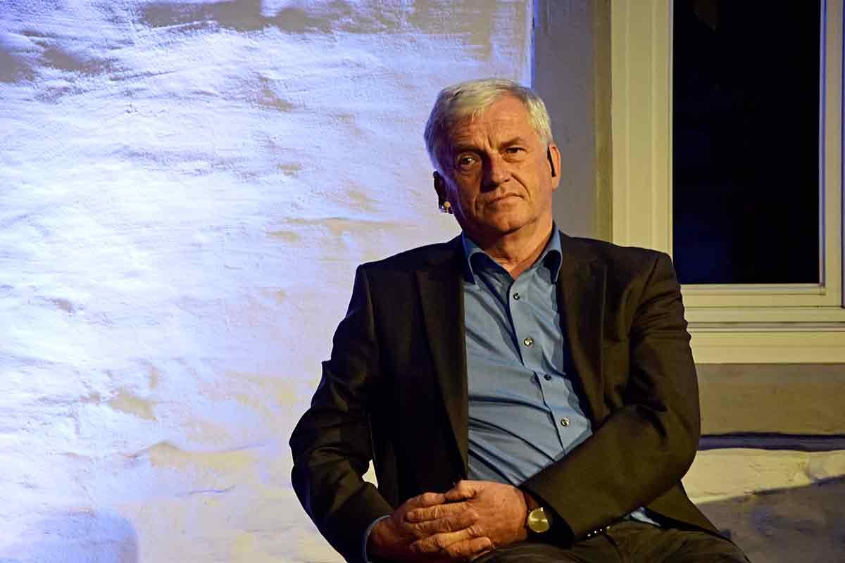 Arnold Stadler in der Spiegelhalle in Konstanz