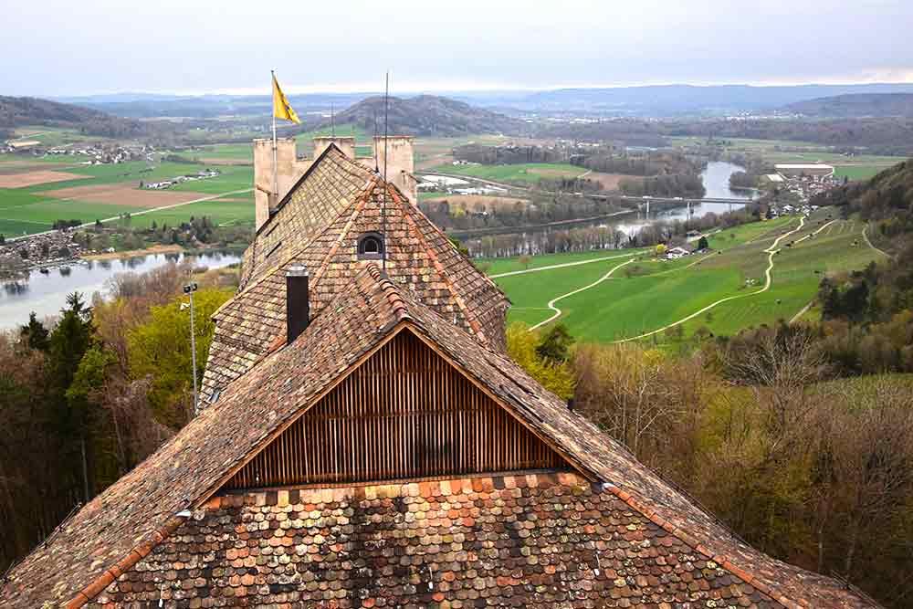 Dächer einer Burg