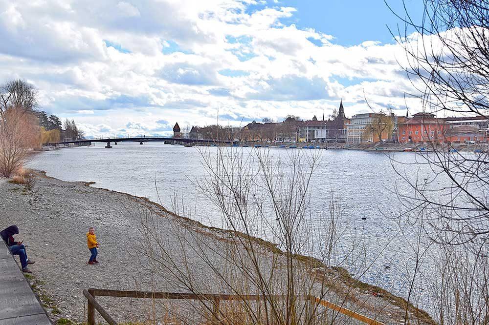 Der Rhein in Konstanz
