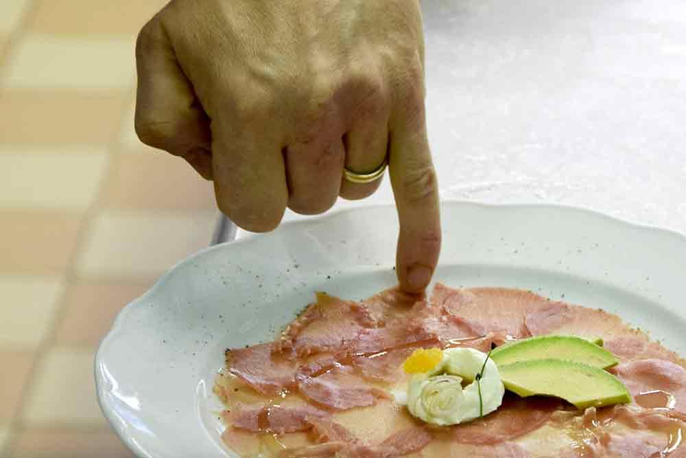 Carpacchio mit Avocado