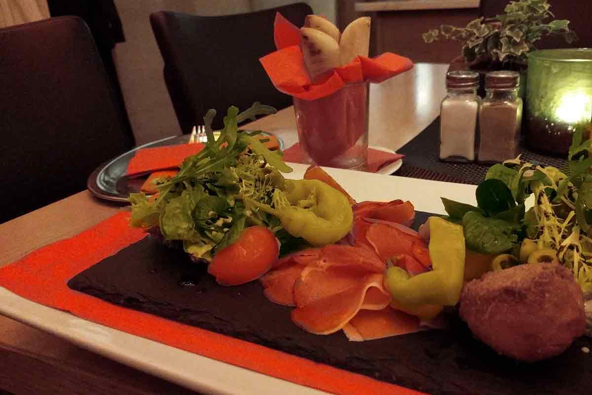 Schwäbische Antipasti im Schieners Restaurant