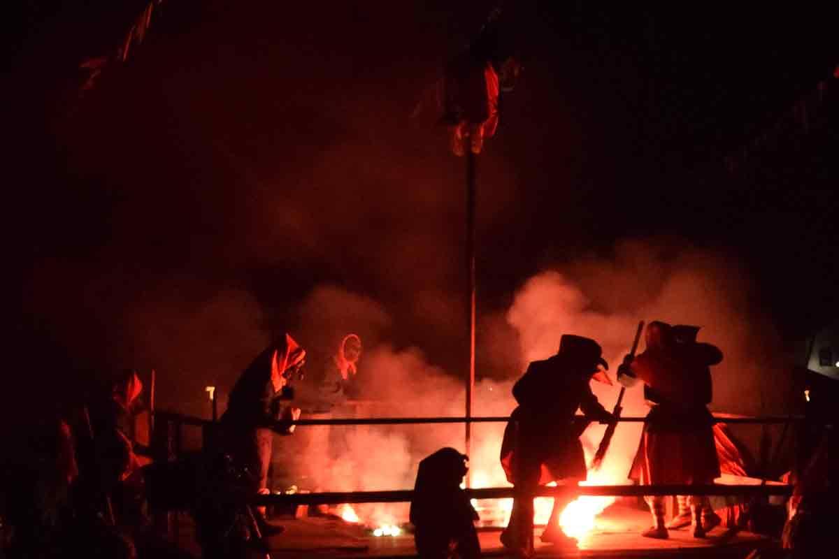 Tanzende Hexen auf der Fasnet Bad Saulgau