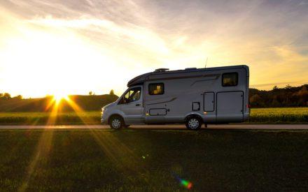 Hymer ML T 580 im Sonnenuntergang
