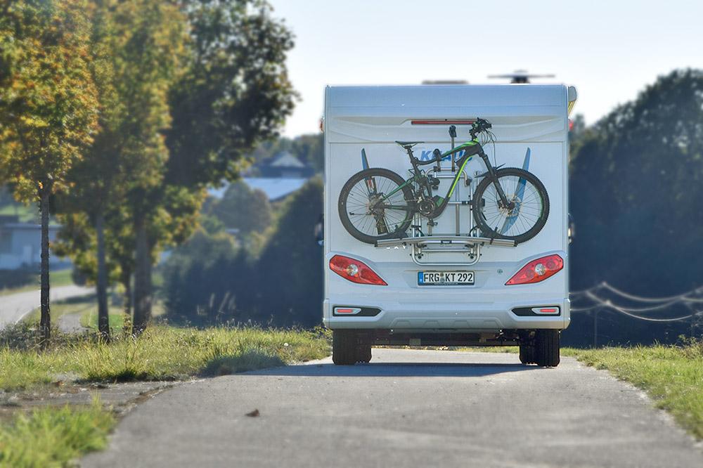 Knaus Sky TI mit Fahrradträger