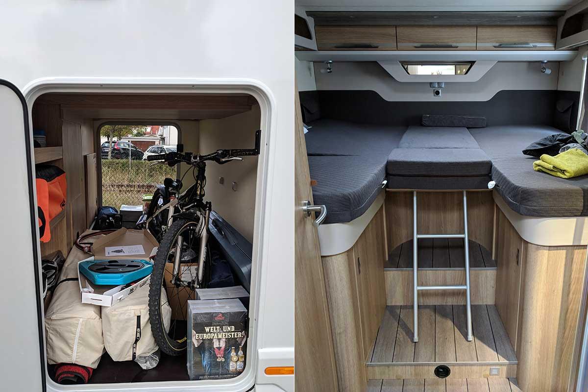 Knaus Sky TI 700 MEG Garage und Bett
