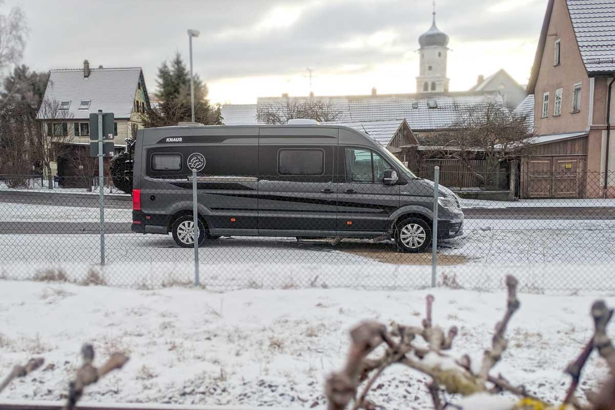 Wohnmobil auf demStellplatz Meßkirch