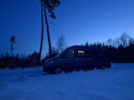 Knaus Boxdrive in Winterlandschaft