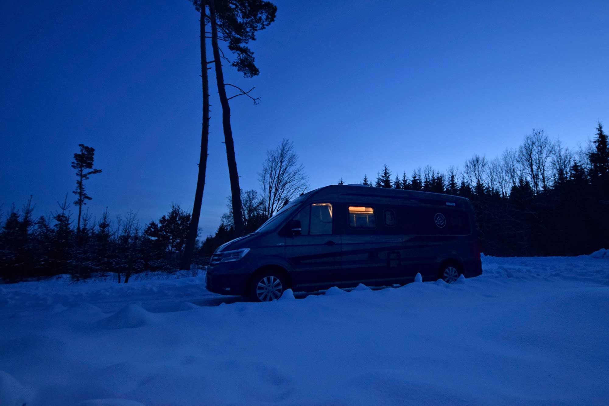 Knaus Boxdrive in Winterlandschaft