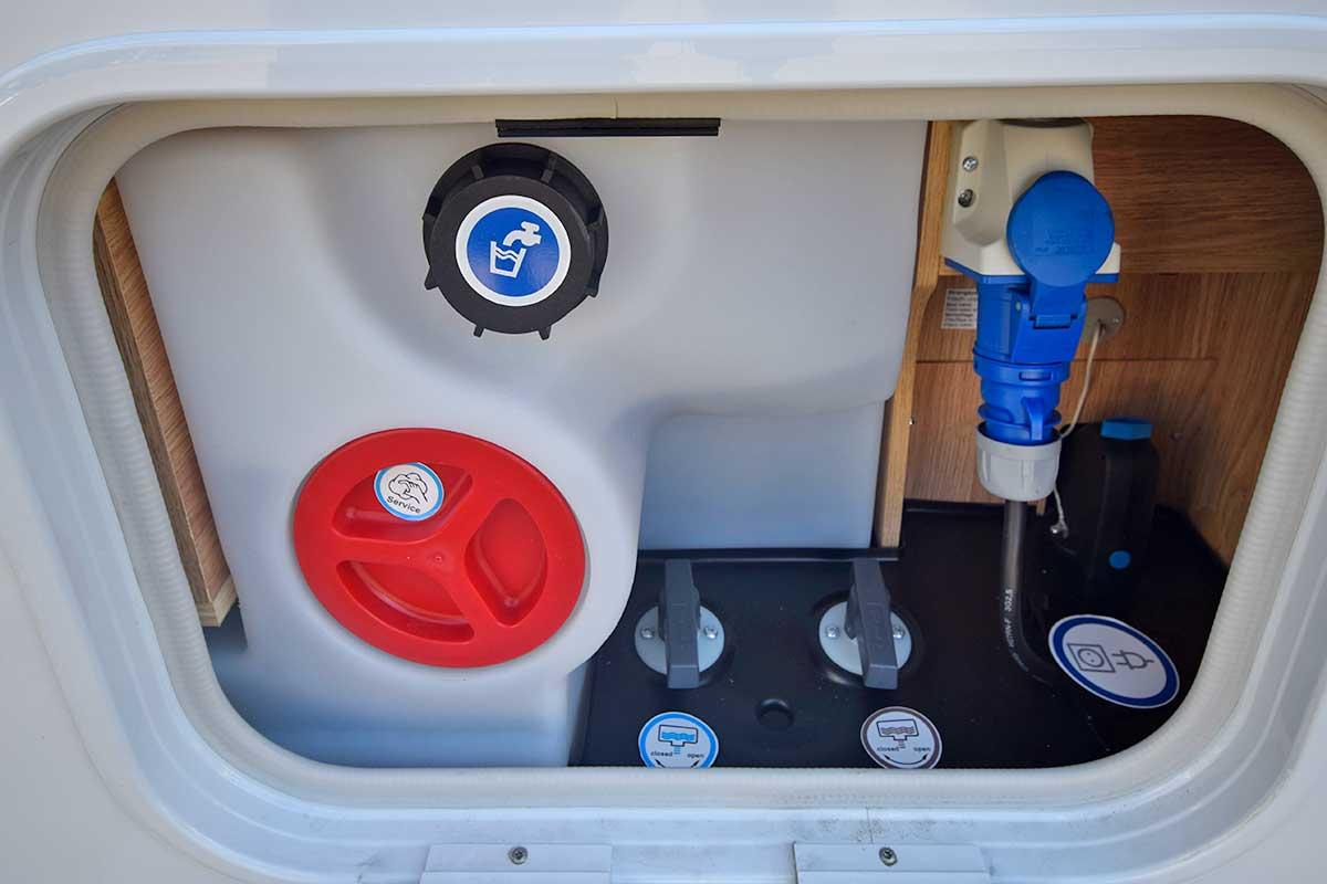 Versorgungsklappe für den Wasserhaushalt