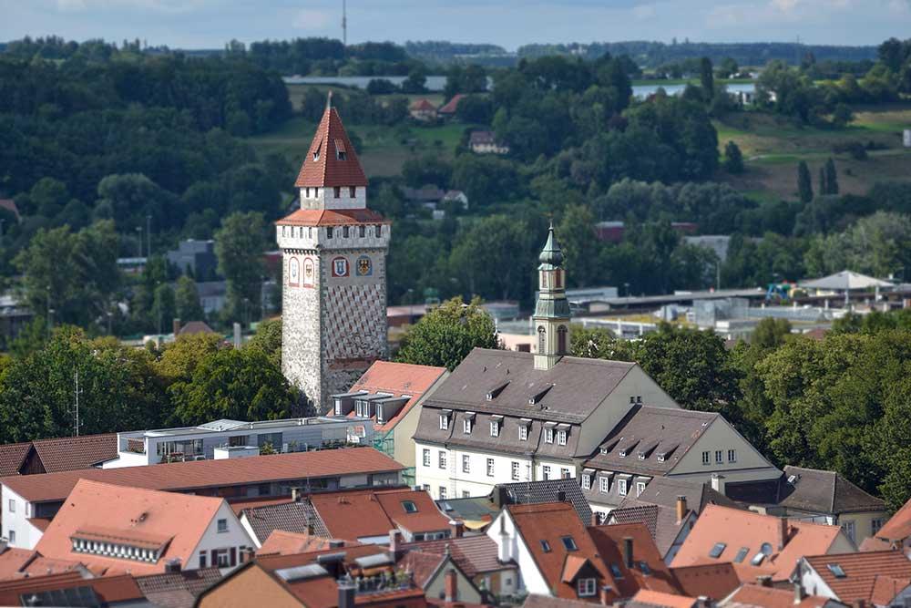 Gemalter Turm in Ravensburg