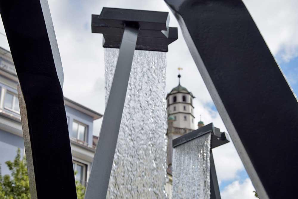 Schad-Brunnen ravensburg mit Blaserturm