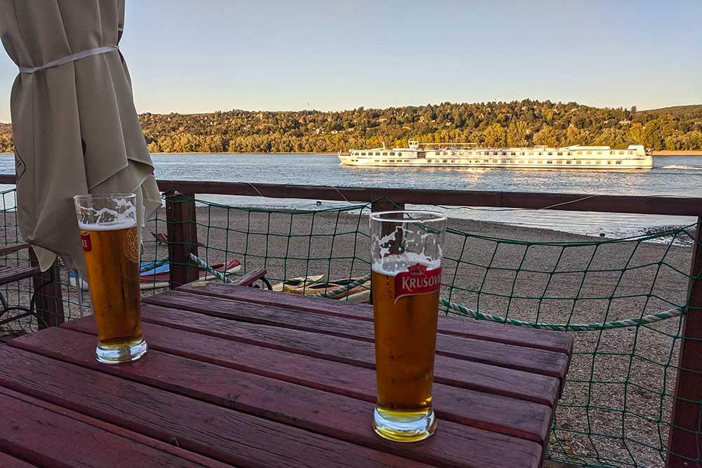 Tschechisches Bier in der Dunakanyar