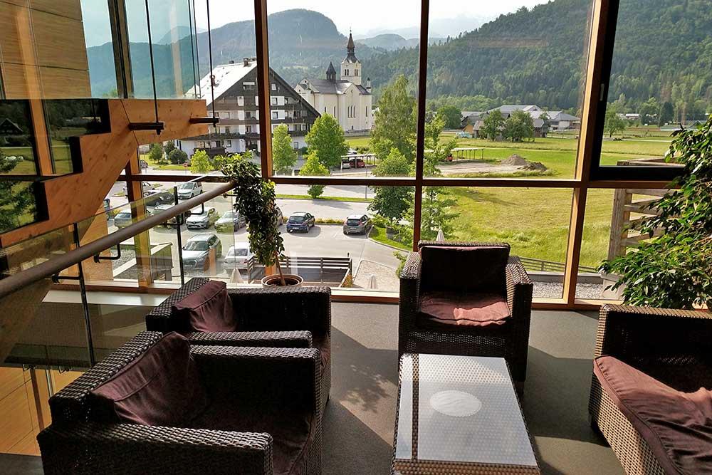 Lounge im Eco-Hotel Bohinj
