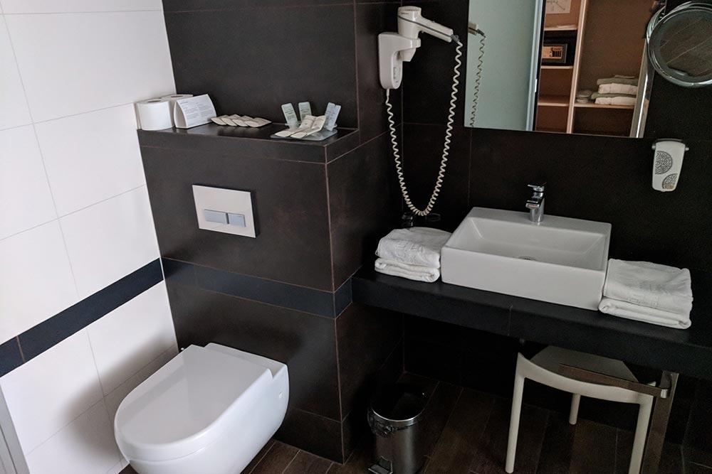 Bad im Eco-Hotel Bohinj