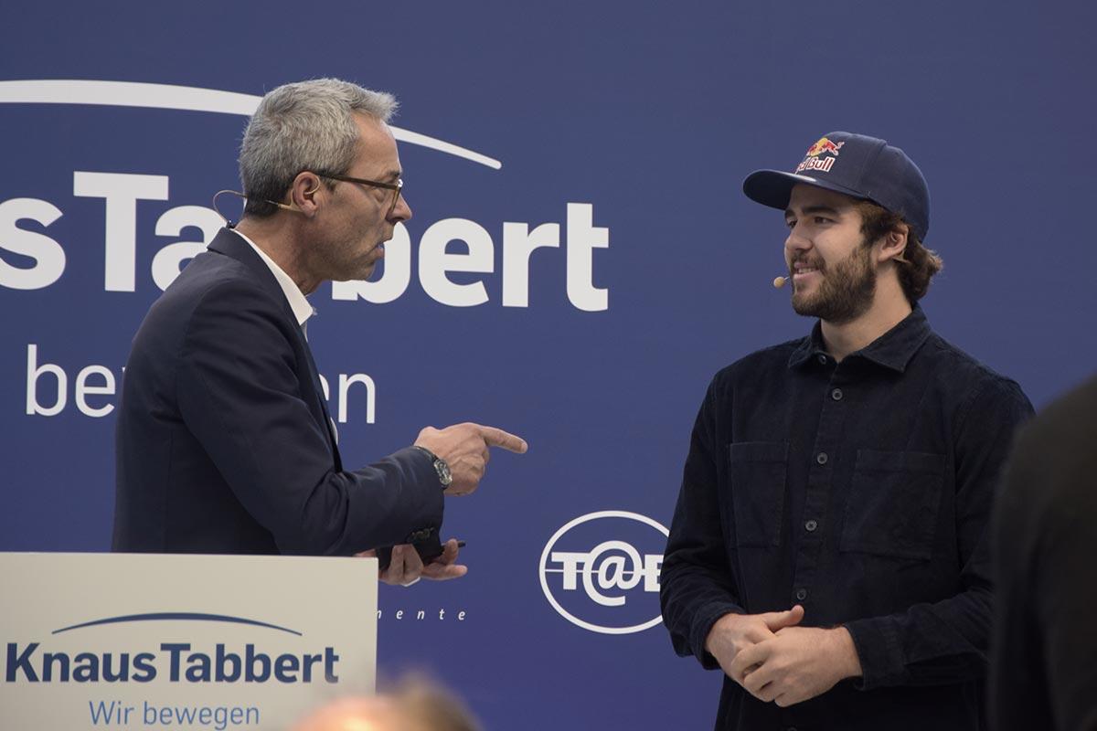 Manuel Lettenbichler und Stefan Diehl auf der Knaus Tabbert Pressekonferenz