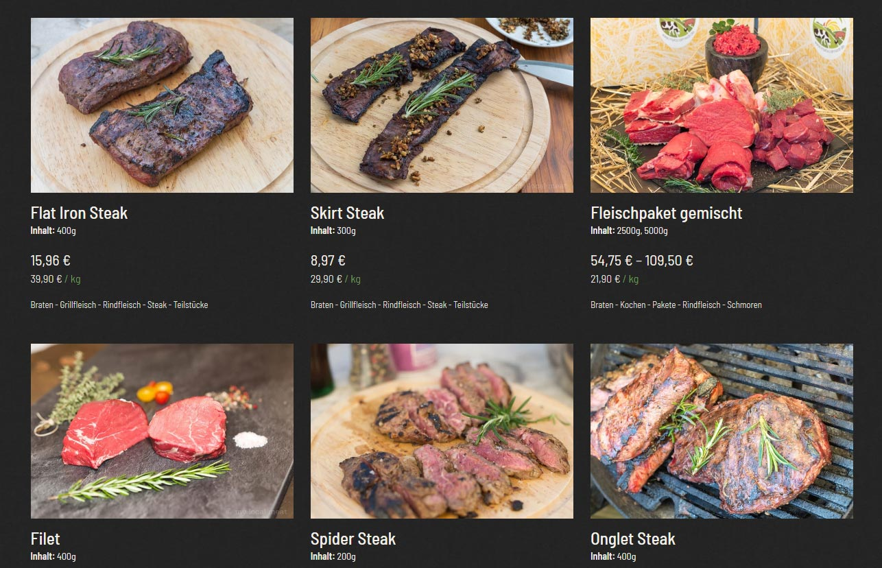 mylocalmeat.de Screenshot