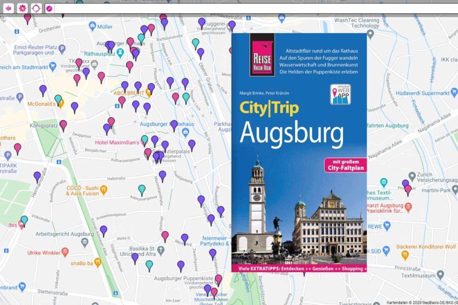 CityTrip Augsburg mit App und Map